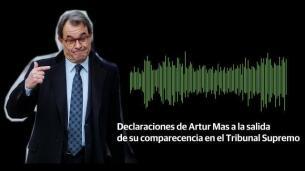Declaraciones de Artur Mas a la salida del Supremo