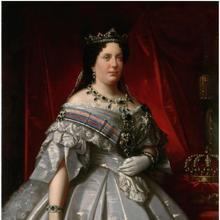 Retrato de la Reina Isabel II hacia 1860, por Luis de Madrazo