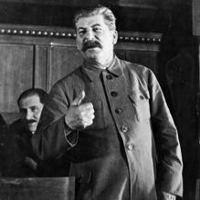 Stalin, durante uno de sus discursos, en 1940