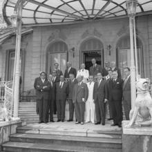 Franco junto a sus miembros de gobierno en el Palacio de Ayete, en 1962, año que ETA intentó acabar con su vida