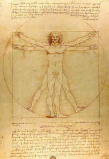 «El hombre de Vitruvio», de Leonardo