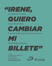Imagen de la campaña «Voces en igualdad»